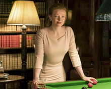 Sarah Snook poses by pool table as Shiv Roy in Succession TV series 8x10 photo