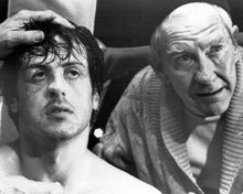 Rocky II Sylvester Stallone Burgess Meredith ringside 8x10 inch photo
