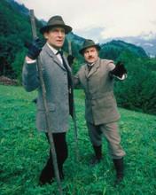 Adventures of Sherlock Holmes Jeremy Brett David Burke on hillside 8x10 photo