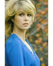 Joanna Lumley in blue dress Sapphire and Steel 1979 TV 8x10 inch photo