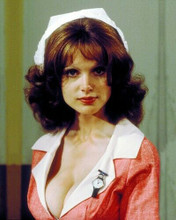 Madeline Smith 1970's icon dressed as sexy nurse with cleavage 8x10 inch photo