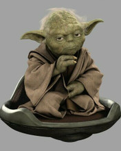 Star Wars A New Hope Yoda classic pose seated on chair 8x10 inch photo