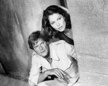 Moonraker Roger Moore as James Bond Lois Chiles 8x10 inch photo