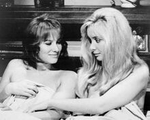 Therese and isabelle 1968 Essy Persson Anna Gael Anna Thynn in bed 8x10 photo