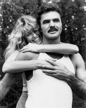 The Cannonball Run Farrah Fawcett embraces Burt Reynolds 8x10 inch photo
