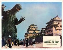 Godzilla vs The Thing 8x10 inch photo pedestrians flee Godzilla on street