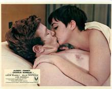 Charlie Bubbles 8x10 inch photo Albert Finney kisses Liza Minnelli in bed
