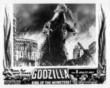 Godzilla King of the Monsters 8x10 photo Godzilla eats train destroying Tokyo