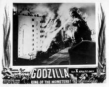 Godzilla King of the Monsters 8x10 photo Godzilla breathes fire Tokyo building
