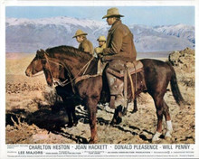 Charlton Heston rides horse in Inyo County CA mountains Will Penny 8x10 photo
