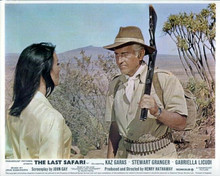 The Last Safari Stewart Granger in safari outfit Gabrielle Licudi 8x10 photo