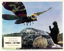 Godzilla vs The Thing giant flying creature about to attack Godzilla 8x10 photo