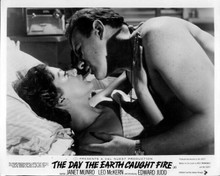 Day the Earth Caught Fire Janet Munro Edward Judd steamy scene in bed 8x10 photo