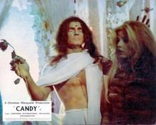 Candy 1968 movie Marlon Brando as Grindl Ewa Aulin in fur coat 8x10 inch photo