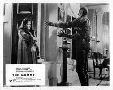 The Mummy 1959 Hammer Christopher Lee stalks Yvonne Furneaux 8x10 photo