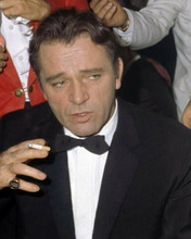 Richard Burton looks super cool in tuxedo smoking cigarette c.1963 8x10 photo