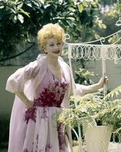 Lucille Ball candid smiling pose in her back yard c.1960 8x10 inch photo