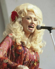 Dolly Parton 1970's singing in concert pose 8x10 inch photo