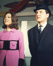 The Avengers TV series Diana Rigg in pink outfit Patrick Macnee 8x10 inch photo