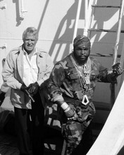 The A Team George Peppard Mr T onboard ship looking tough 8x10 inch photo