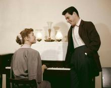 Debbie Reynolds plays piano Eddie Fisher by her side 8x10 inch photo