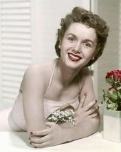 Debbie Reynolds early 1950's studio glamour pose in white dress 8x10 photo