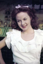 Susan Hayward candid smiling pose in white blouse 4x6 inch photo