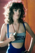 Kelly Le brock pin-up in low cut workout top Weird Science 4x6 inch photo