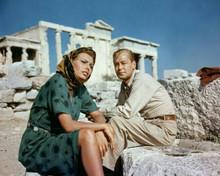 Boy on a Dolphin Sophia Loren Alan Ladd sit on Greek island Hydra 8x10 photo