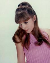 Francoise Dorleac beautiful 1966 portrait in pink sweater 8x10 inch photo