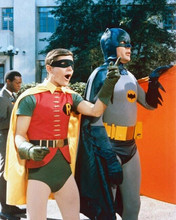 Batman 1966 TV Burt Ward Adam West Batman & Robin to the rescue 8x10 inch photo