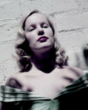Veronica Lake in dress pulled down over shoulders 8x10 inch photo glamour pose