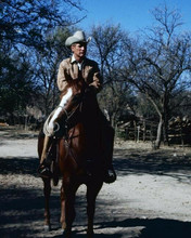 Paul Newman rides his horse Butch Cassidy and the Sundance Kid 8x10 inch photo