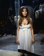 Ingrid Pitt in low cut gown wearing red necklace The Vampire Lovers 8x10 photo