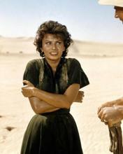 Sophia Loren on location in Libyan desert 1957 Legend of the Lost 8x10 photo