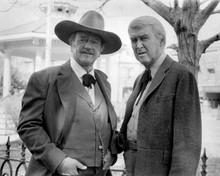 The Shootist John Wayne James Stewart pose together 8x10 inch photo