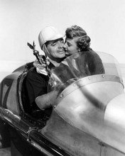 To Please A Lady Clark Gable Barbara Stanwyck in race car with statue 8x10 photo