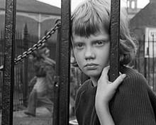 Hayley Mills stares through iron bars on Cardiff street Tiger Bay 8x10 photo