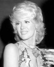 Connie Stevens holds glass of champagne circa 1960's 8x10 inch photo