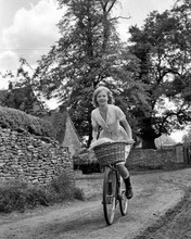 Hayley Mills rides bike between takes Sky West and Crooked 1965 8x10 inch photo