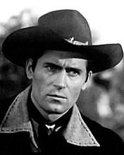 Clint Walker in black jacket and western hat as Cheyenne 8x10 inch photo