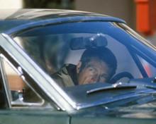 Bullitt Steve McQueen in his Mustang looking through windshield 8x10 inch photo
