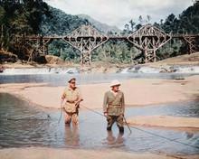 Bridge on the River Kwai Alec Guinness Sessue Hayakawa discover explosive 8x10