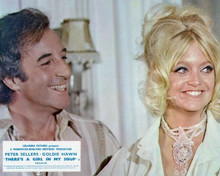 There's A Girl in My Soup Peter Sellers and Beaming Goldie Hawn 8x10 inch photo