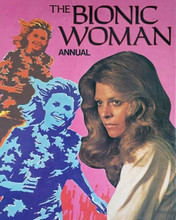 The Bionic Woman Lindsay Wagner cover art from British Annual 8x10 inch photo