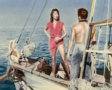 Sophia Loren wearing red wet dress on boat Boy on a Dolphin 8x10 inch photo