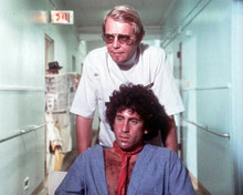 Starsky and Hutch David Soul wheels Paul Michael Glaser in chair undercover 8x10