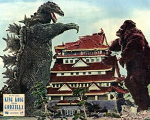 King Kong vs Godzilla 1962 Kong & Godzilla destroy Japanese house 8x10 photo
