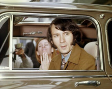Peter Tork in his Radford Mini Cooper The Monkees star 8x10 inch photo