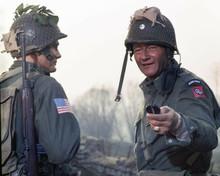 The Longest Day Steve Forrest John Wayne on battle field 8x10 inch photo